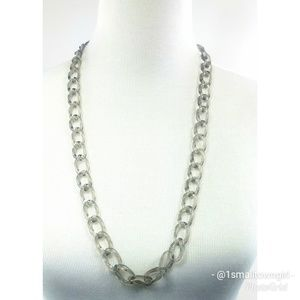 J. Crew grey chain link necklace